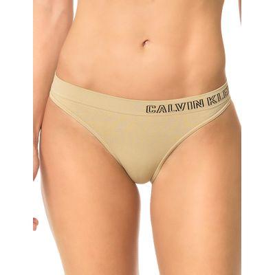Kit 2 Tangas Sem Costura Calvin Klein Underwear Preto / Skin