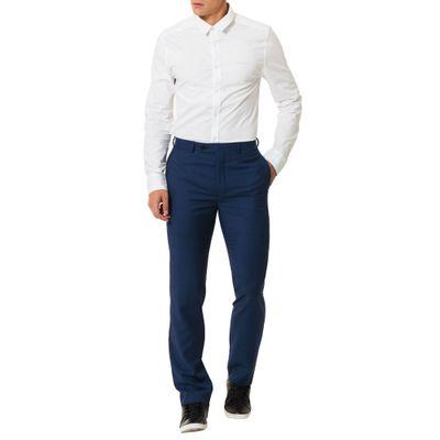 Calça Alfaiataria Calvin Klein Com Abot No Cós Deslocada Índigo
