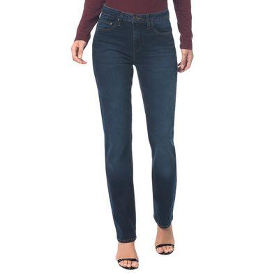 Calça Jeans Five Pocktes Mid Rise Straig Ckj 031 Mid Rise Straight - Marinho