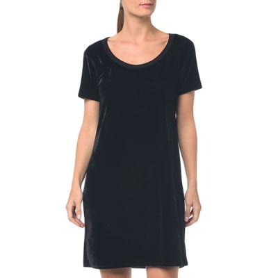 Camiseta T.Shirt Dress De Veludo Preto