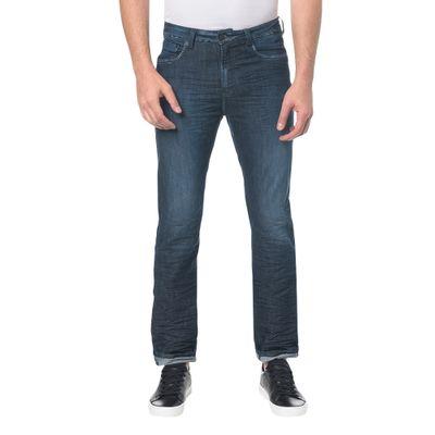 Calça Jeans Five Pocktes Slim Straight Ckj 025 Slim Straight - Marinho
