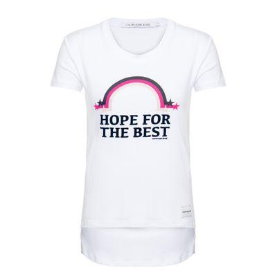 Blusa M/C Ckj Hope For The Best Branco