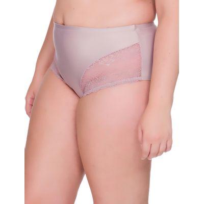 Calcinha Renda Microfibra Plus Size  - Rosa Pó