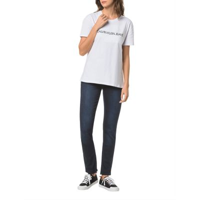 Calça Jeans Five Pocktes High Rise Slim Ckj 020 High Rise Slim - Marinho