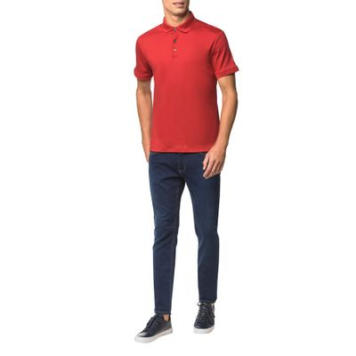 Polo Basica Liquid Cotton - Vermelho