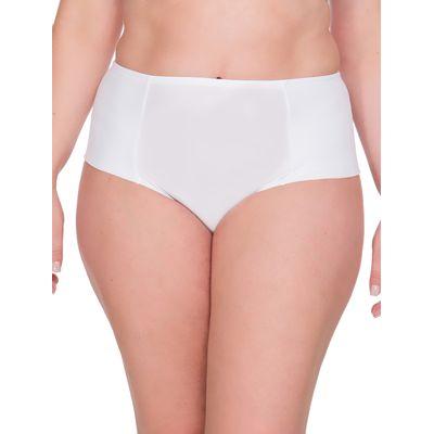 Calcinha Lateral Dupla Plus Size - Branco