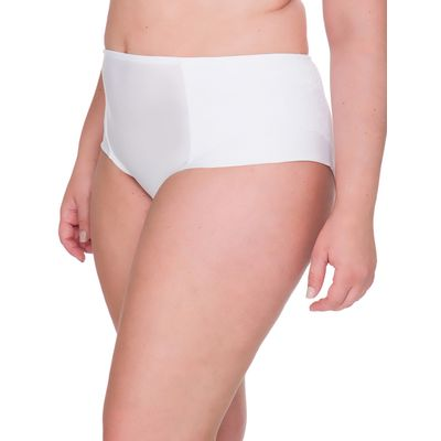 Calcinha Lateral Dupla Renda Plus Size - Branco