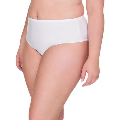 Calcinha Hot Pant Microfibra Plus Size - Branco