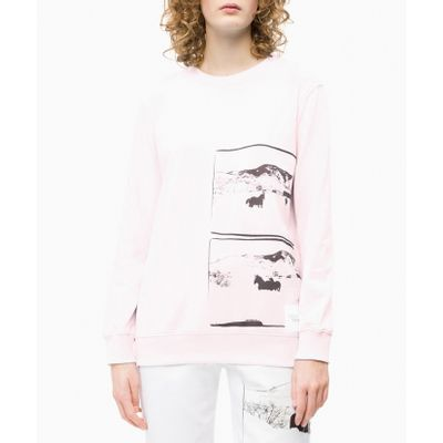 Casaco Ckj Fem Ml Andy Warhol Landscape - Rosa Claro