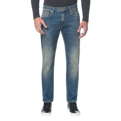 Calça Jeans Five Pockets Ckj 025 Slim Straight - Azul Médio