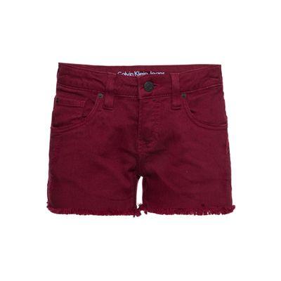Shorts Color Five Pockets - Bordo