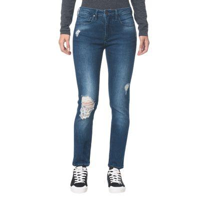Calça Jeans Five Pockets Ckj 021 Mid Rise Slim - Marinho