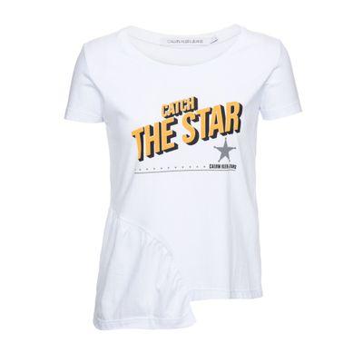 Blusa M/C Ckj Catch The Star - Branco