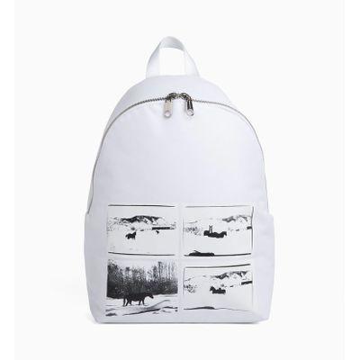 Mochila Ckj Horse Andy Warhol Landscape - Branca