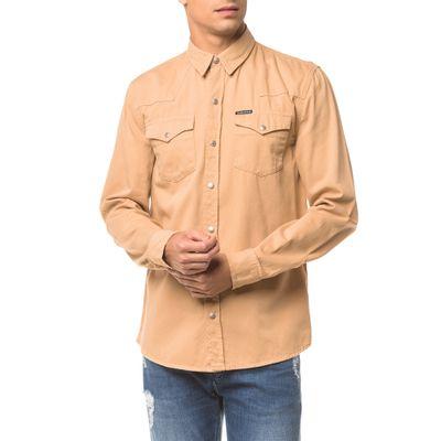 Camisa Color Manga Longa - Caqui Claro