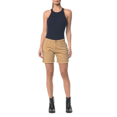 Bermuda Color Five Pockets - Caqui Claro