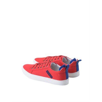 Tenis Lona Cano Baio Skate Logo Caixa - Vermelho