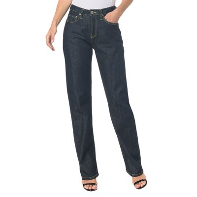 Calça Jeans F Pockets Ckj 030 High Rise Straigh -  Marinho