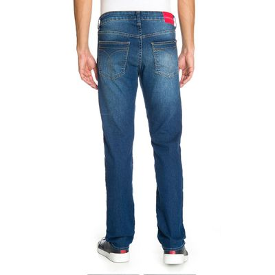 Calca Jeans Five Pockets Slim - Azul Médio