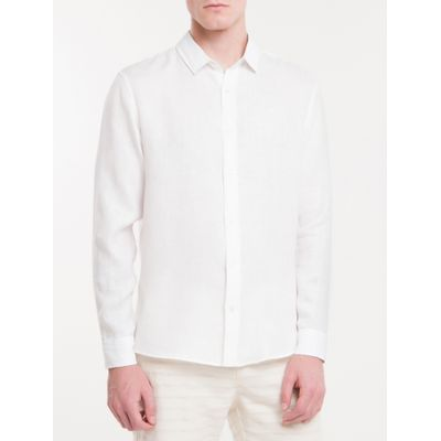 Camisa Regular Cannes Linen - Branco