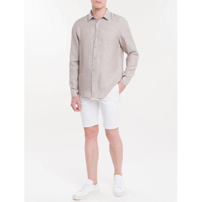Camisa Regular Cannes Linen - Caqui Claro
