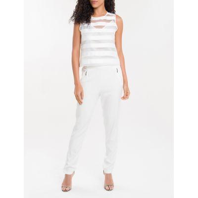 Cropped Listras Calvin Klein - Branco
