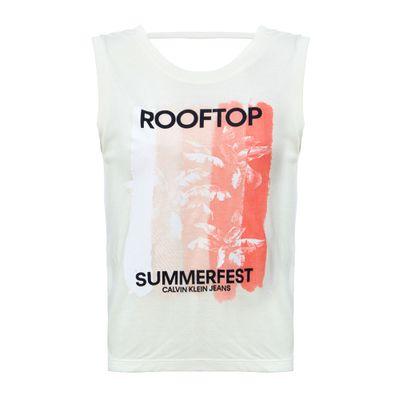 Blusa Sm Ckj Rooftop - Off White