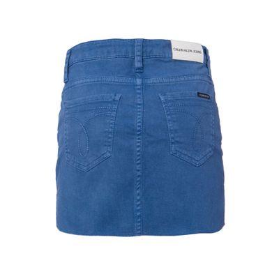 Saia Color Fraldada Five Pockets - Azul Médio