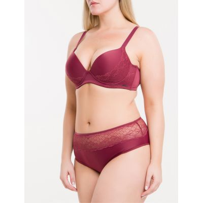 Sutiã Bojo T -Shirt Argos Plus Size - Bordo