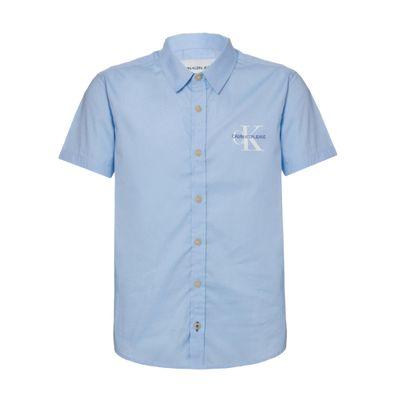 Camisa Mc Ckj Com Silk Re Issue - Azul Claro