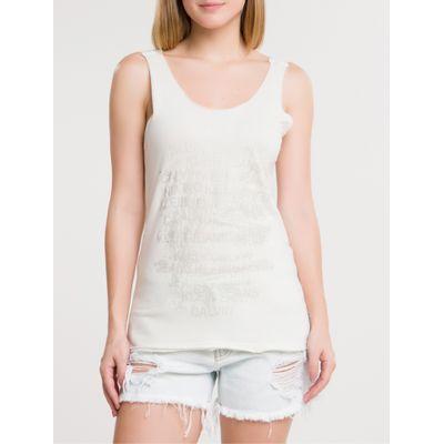 Blusa Ckj Fem Foil Sleeveless - Off White