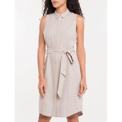 Vestido Chemise Nilo Calvin Klein - Caqui Claro