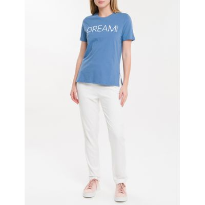 Camiseta Baby Look New Year Dream - Azul Claro