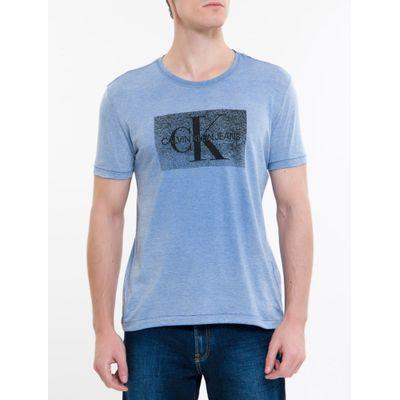 Camiseta Ckj Mc Re Issue Devore - Azul Escuro