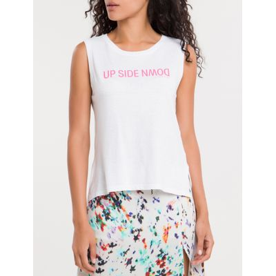 Blusa Feminina Regata Up Side Down Branca Calvin Klein Jeans