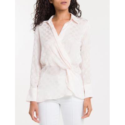 Camisa Poa Devoré Calvin Klein - Branco