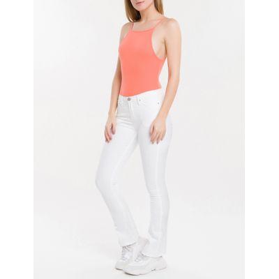 Body Feminino Canelado Alças Finas Papaia Calvin Klein Jeans