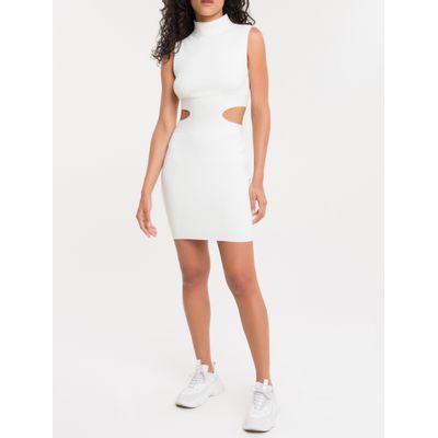 Vestido S/M Tricot Golinha - Off White