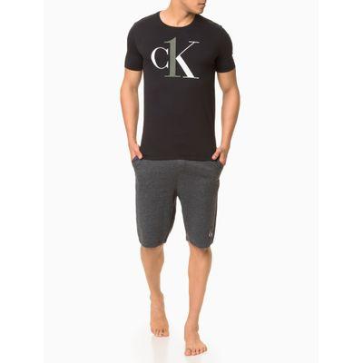 Camiseta Masc Algodão CK ONE Loungewear - Preto