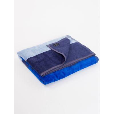 Toalha Ckj Listras Calvin Klein - Azul