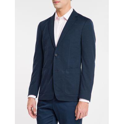Blazer Jersey - Azul Marinho