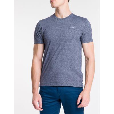 Camiseta Mc Slim Básica Mouline - Marinho