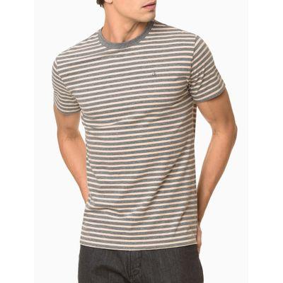 Camiseta Slim Listrado Sustentavel Exc - Grafite