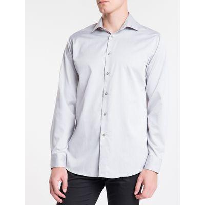 Camisa Regular Masculina Cinza Médio