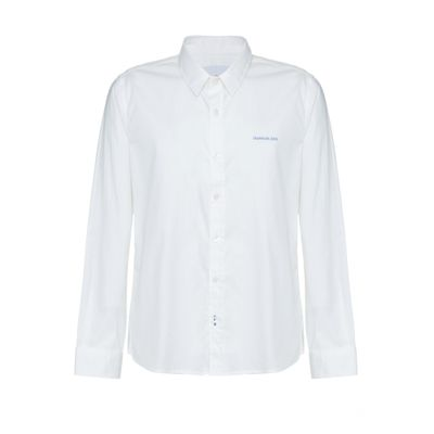 Camisa Ml Ckj Lisa Básica Com Assinatura - Off White