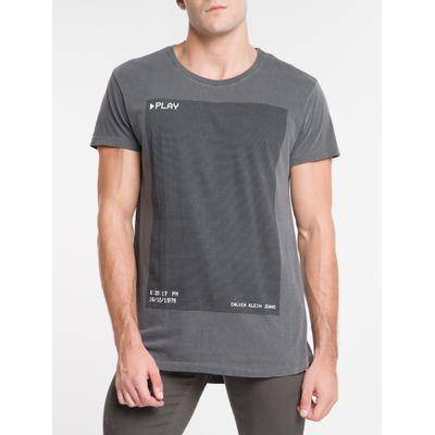 Camiseta Masculina Play Chumbo Calvin Klein Jeans