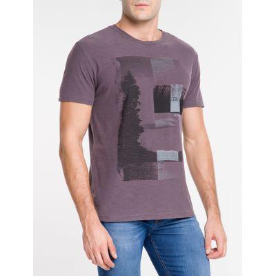 Camiseta Masculina Paisagem Bordô Calvin Klein Jeans