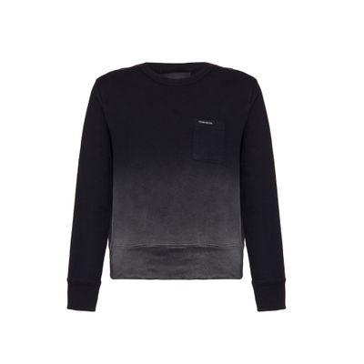 Casaco Circular Ml Liso Sweater Jato - Preto