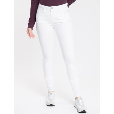 Calça Color Five Pockets Super Skinny - Branco