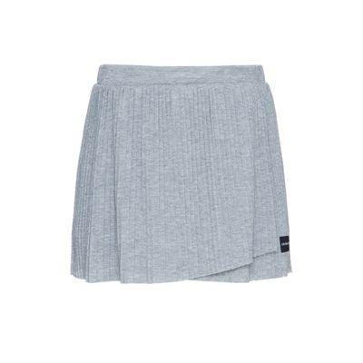 Shorts Circular Lisa Rolo Lurex Plissado - Chumbo